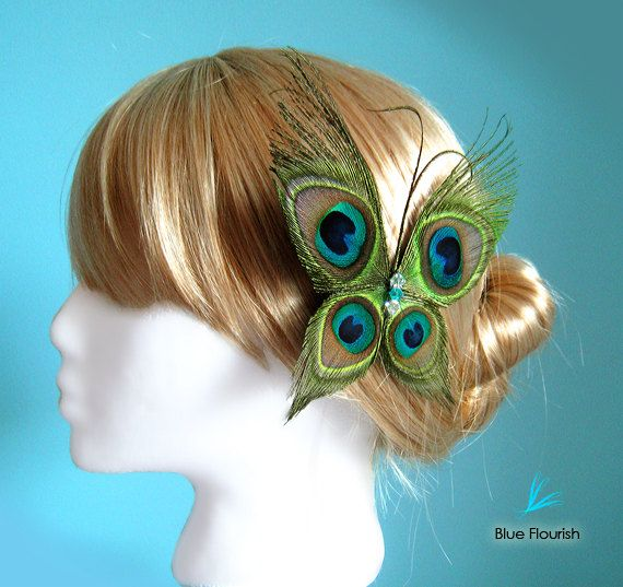 Wedding hair accessories butterfly wedding butterfly by Rationale, $37.00