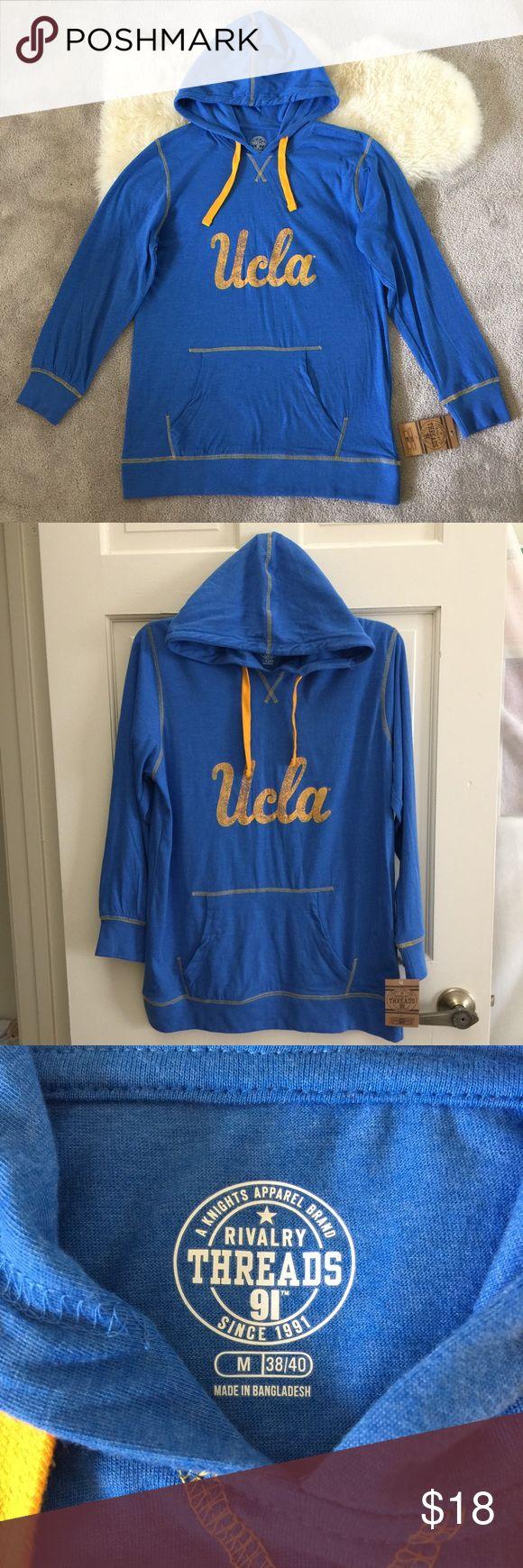 Men's UCLA thin hoodie Men's UCLA thin hoodie ,size M 38/40 Rivalry Threads Jackets & Coats Lightweight & Shirt Jackets