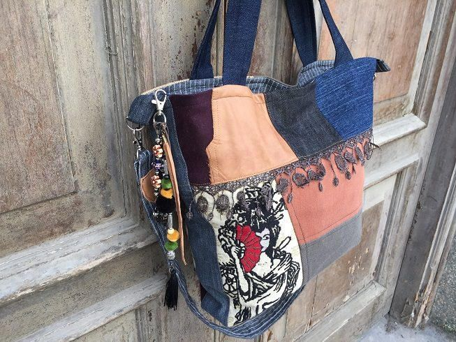 Bohemian shoulder bag /stylish hand bag/tote bag /gift for her /Bohemian beach bag /Gypsy festival bag /hobo bag /market bag / every day bag by BelaCiganaBags on Etsy