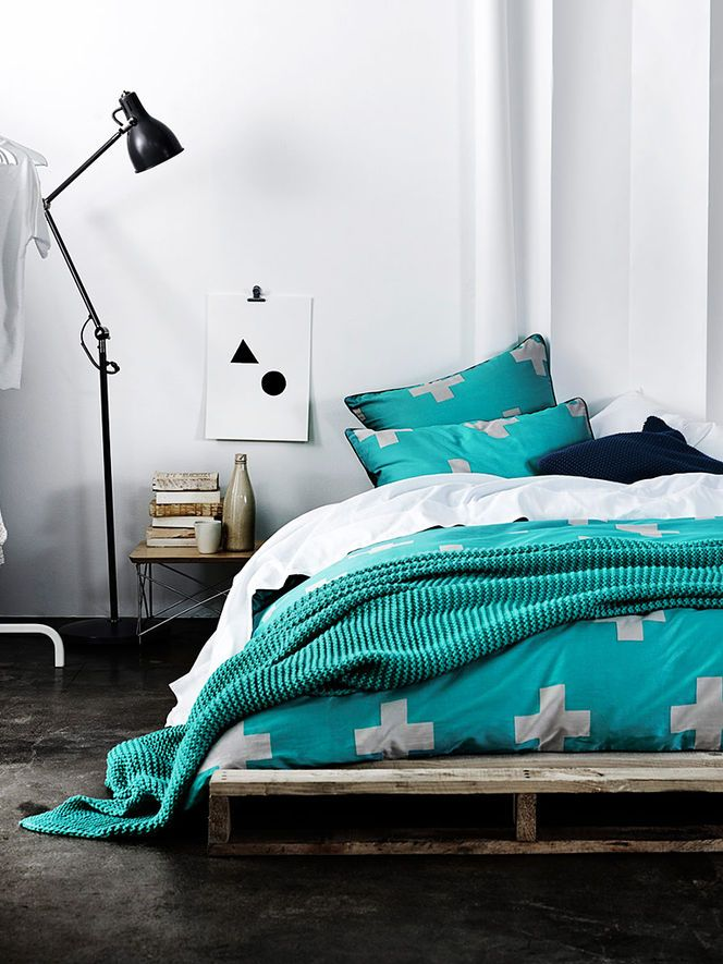 = turquoise linen