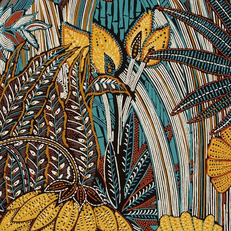 Robert Allen Fabric Lush Scene Onyx - - - H: -, V: - inches - My Fabric Connection - Robert Allen