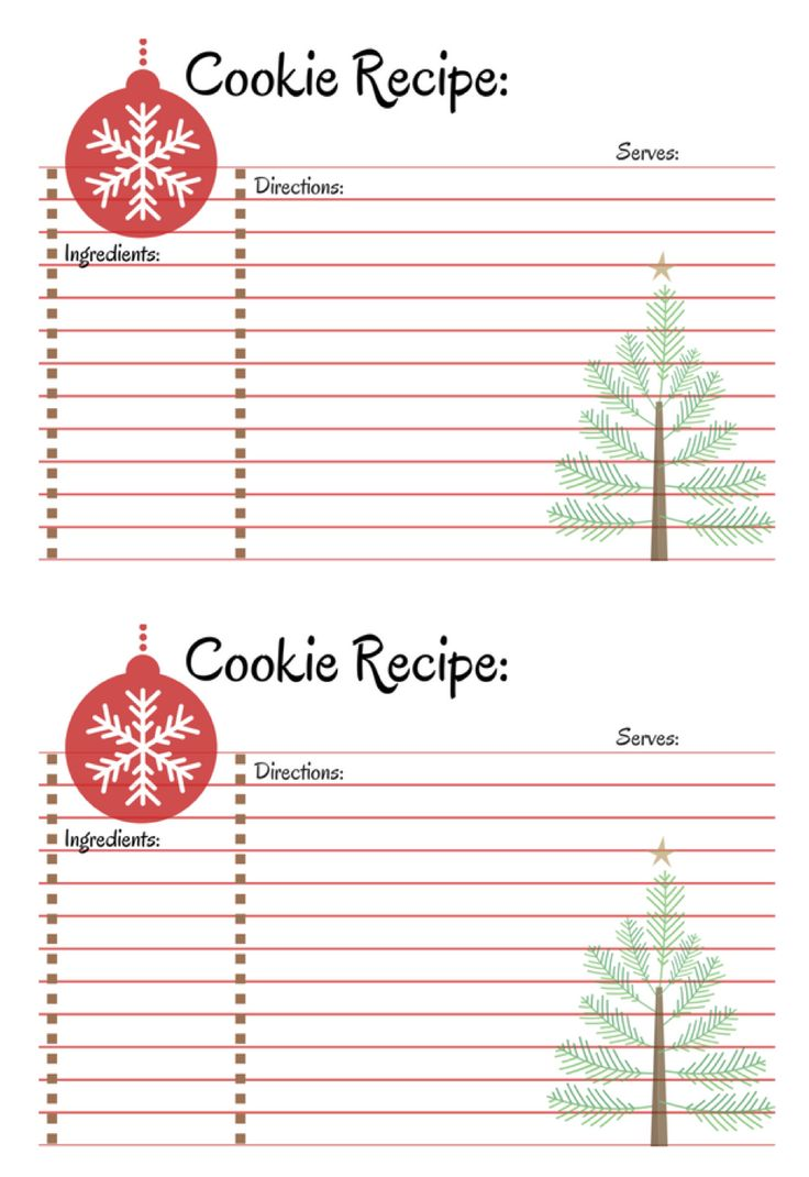 Free recipe card printable. Host a cookie exchange party.