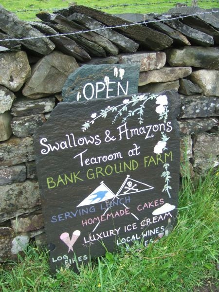 Swallows and Amazons Tearoom at Bank Ground Farm above Coniston Water in the Lake District