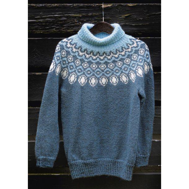 Drenge sweater gratis PDF strikkeopskrift (norsk)