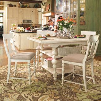 Paula Deen Kitchen Gathering Table - Linen Finish