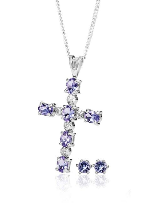 Silver and Tanzanite Pendant With Free Chain and Earrings R988  *Prices Valid Until 25 Dec 2013
