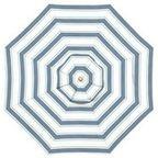 Sunbrella Round Umbrella, Awning Stripe, Navy - traditional - outdoor umbrellas - by Pottery Barn