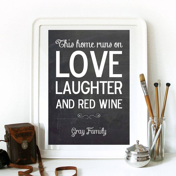LOVE, LAUGHTER AND RED WINE!