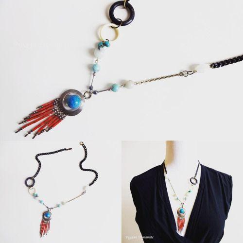 Boho chic. www.PigeonDynamite.etsy.com #pigeondynamite ボーホーシックなジュエリーも揃えています。#etsy #etsyjewelry #madeinnyc #boho #bohochic #style #bohojewelry #turquoise #necklace #upcycledjewelry #handmadejewelry #handmade #oneofakind #ニューヨーク #手作り#ジュエリー#ネックレス#一点もの #アクセサリー#ハンドメイド#ターコイズ#ボーホー#シック#クリーマ#クリーマジュエリー#ニューヨーク#ギフト