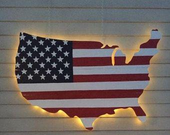 American Flag Wood Wall Art by RestoredAmerican on Etsy