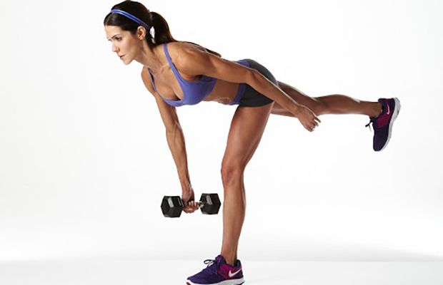 Work your neglected hamstrings with this Dumbbell Single-Leg Deadlift.