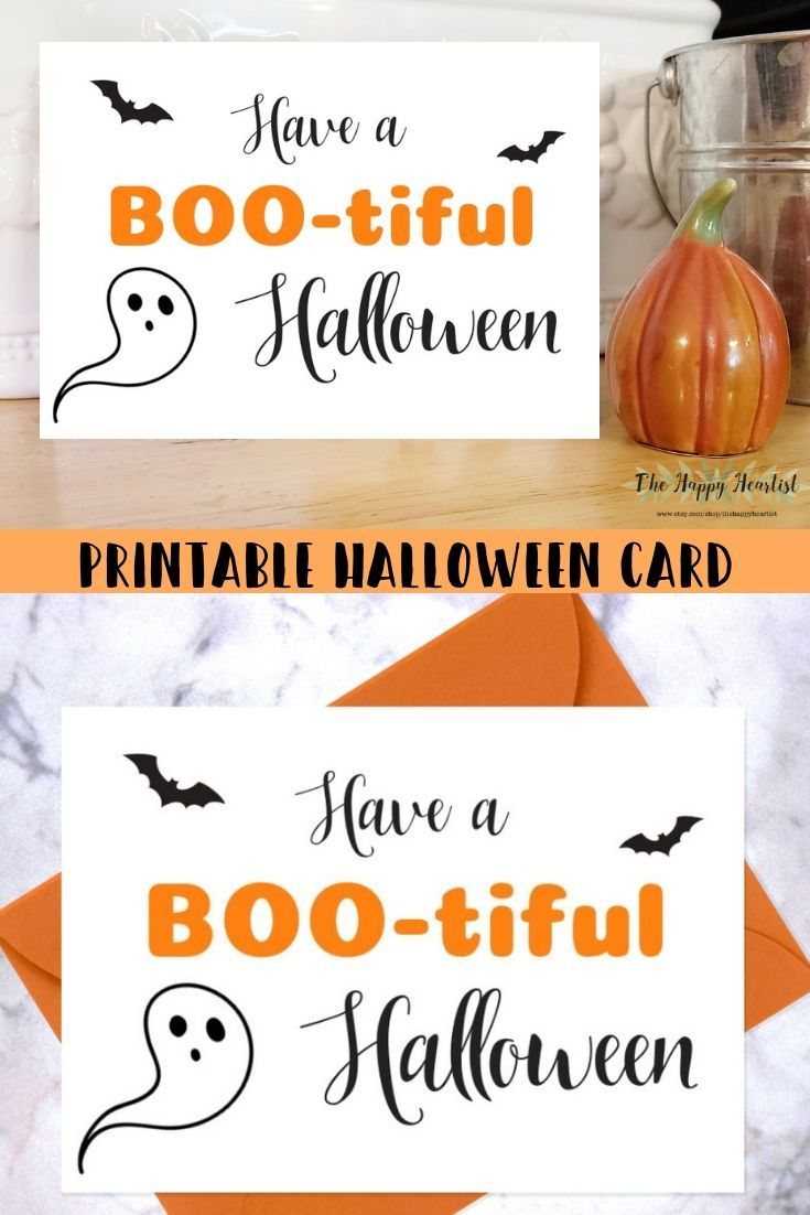 image regarding Printable Halloween Card identified as Lovely Halloween Card. Comprise a BOO-tiful Halloween PRINTABLE