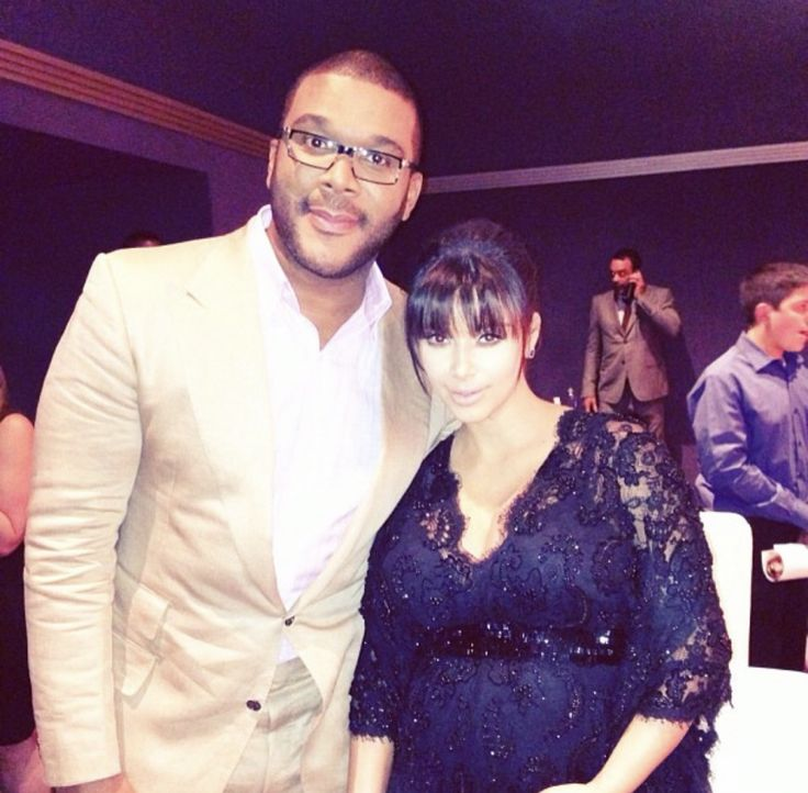 @kimkardashian: With Tyler Perry at our movie premiere for Temptation- Confessions of a Marriage Counselor