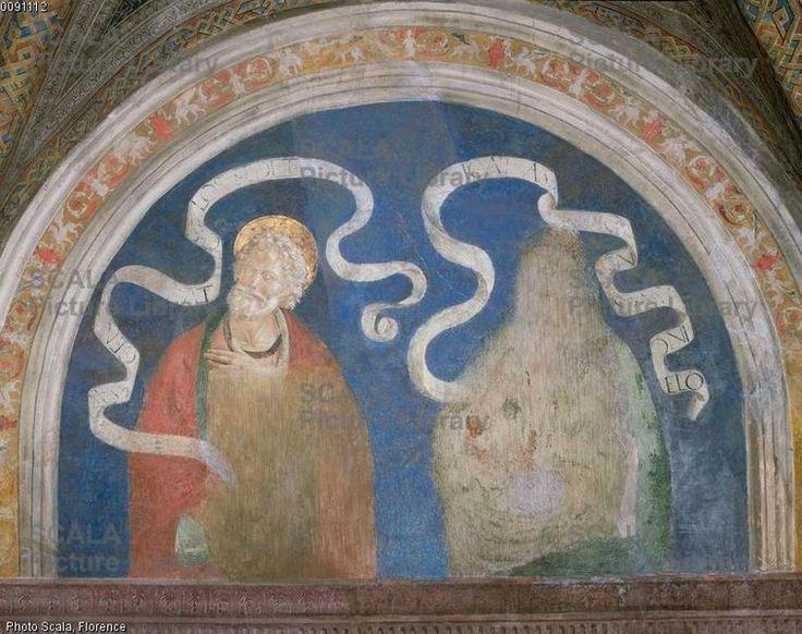 Pier Matteo d'Amelia (c. 1450-1503\8) - James the Lesser and Amos - affresco - 1492-1494 - Sala del Credo - Appartamento Borgia - Palazzo Apostolico della Città del Vaticano - Musei Vaticani