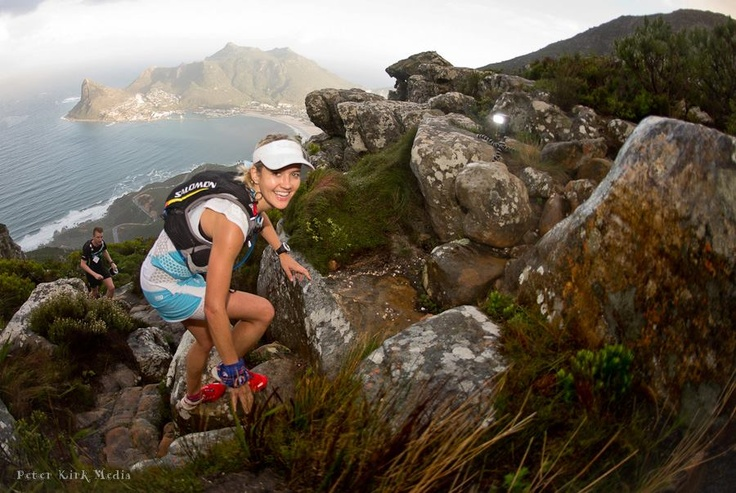 Trail : With Luke Ferguson, Salomon Sa, PeptoSport PeptoPro Man and Landie Greyling in Hout Bay, Western Cape.