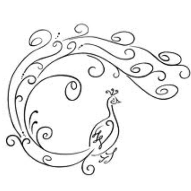 Simple peacock drawings - photo#11