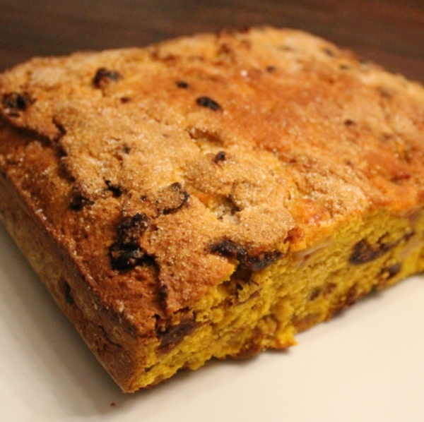 Pinza - typical italian cake that contains meal, pumpkin, spices and a variety of other fruits.