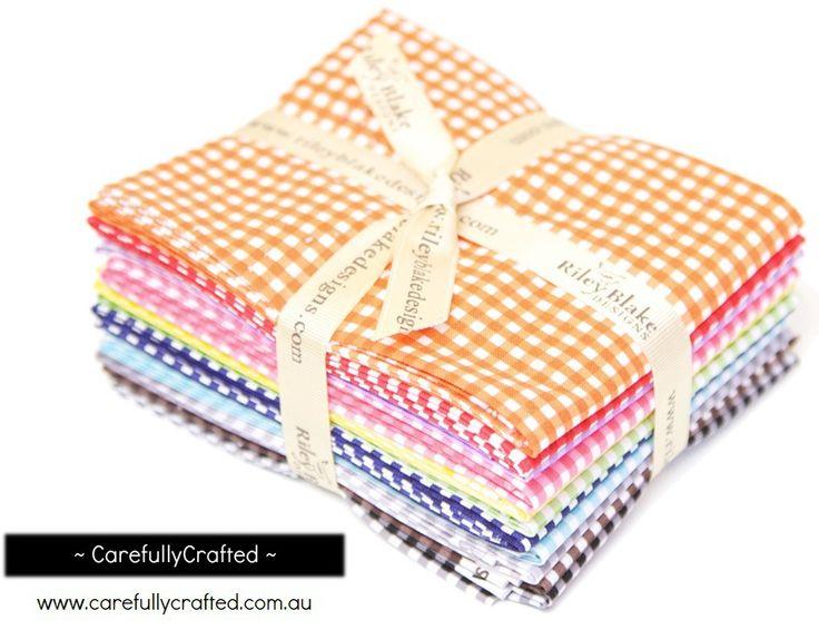 CarefullyCrafted - Riley Blake Small Gingham - Fat Quarter Bundle http://carefullycrafted.com.au/riley-blake-small-gingham-fat-quarter-bundle-fq-440-11/Bundle