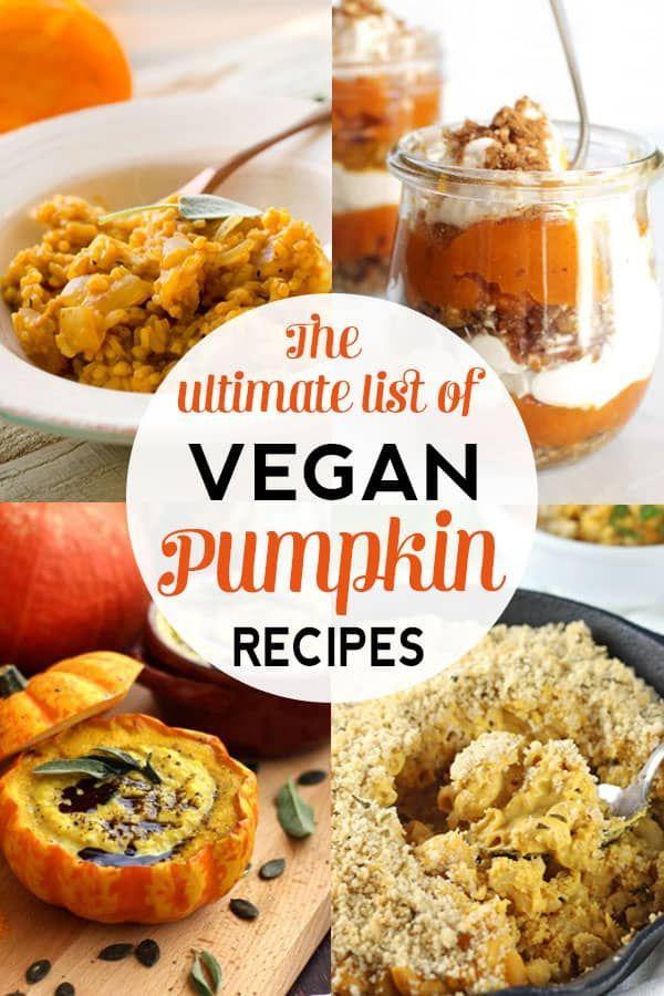 A lista definitiva de receitas saudáveis de abóbora vegana   – Vegan Recipes