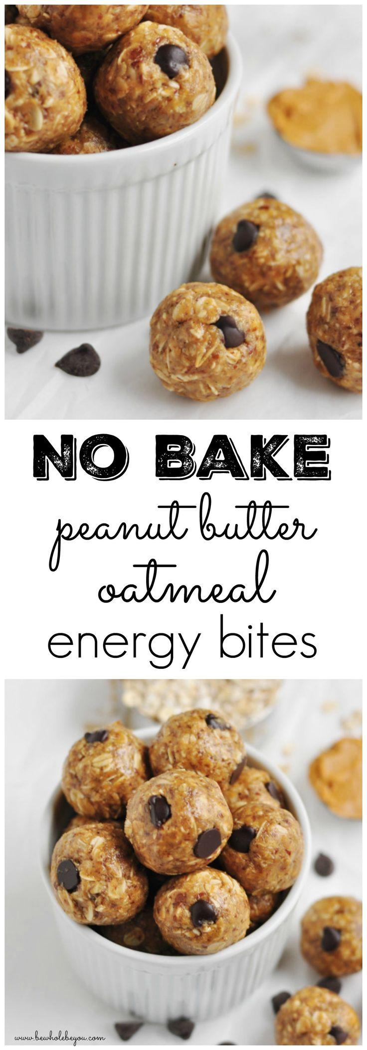 Na Bake Peanut Butter Oatmeal Energy Bites. Be Whole. Be You.