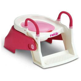 Farlin Step up Two Stage Potty Trainer-Pink,smoothens the transition from a potty to potty seat for the baby.