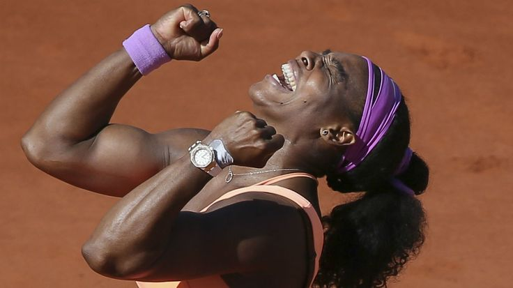 Serena Williams the French Open. 2015.