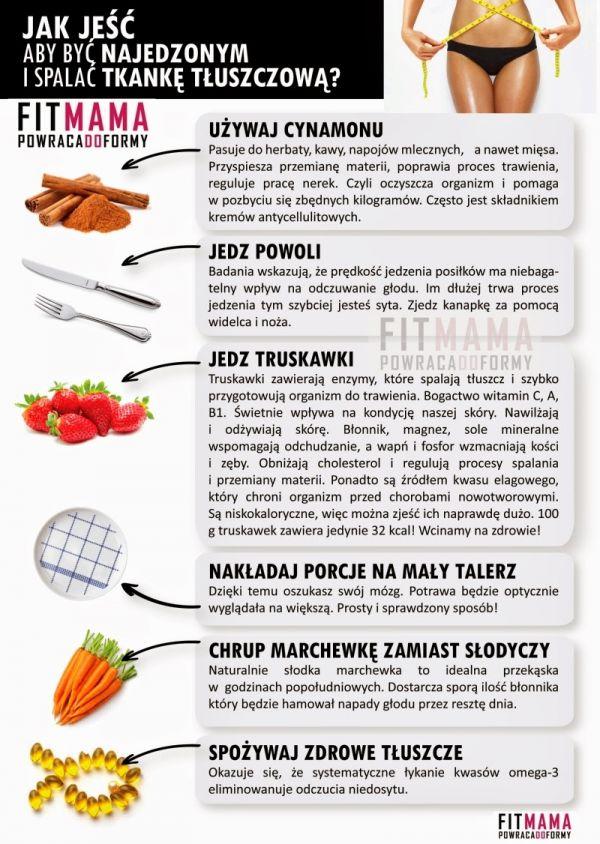 Jak jeść aby być najedzoną i spalać tkankę tłuszczową