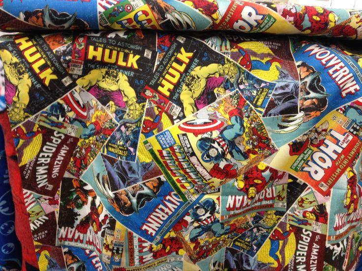 Marvel Superhero Fabric Quilt Sew Knit Pinterest