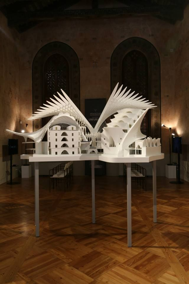 The first view you see as you walk into the exhibition space. Venice, Italy. #venice #model #architecture