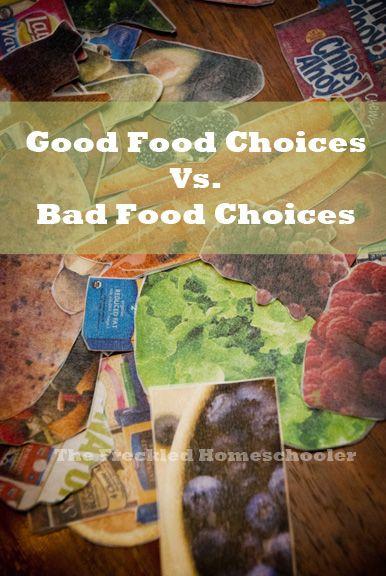 Good Food Choices vs. Bad Food Choices - An Activity