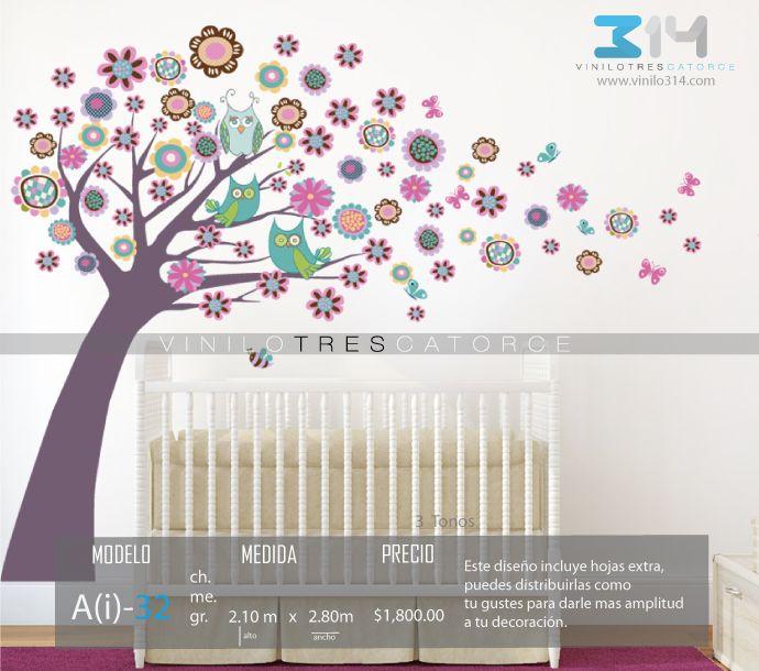 vinilos decorativos rboles infantiles sticker decorativo rbol bhos flores mariposas hojas