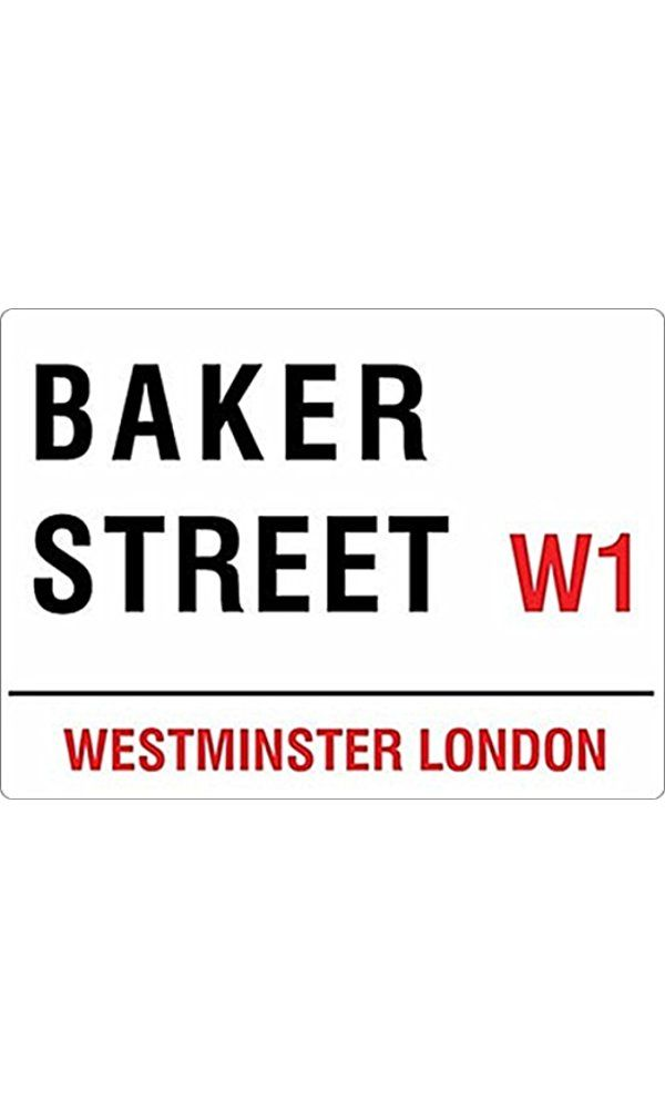 "Baker Street, London (Sherlock Holmes) small size metal sign 8"" x 6"" (og 2015) Best Price"