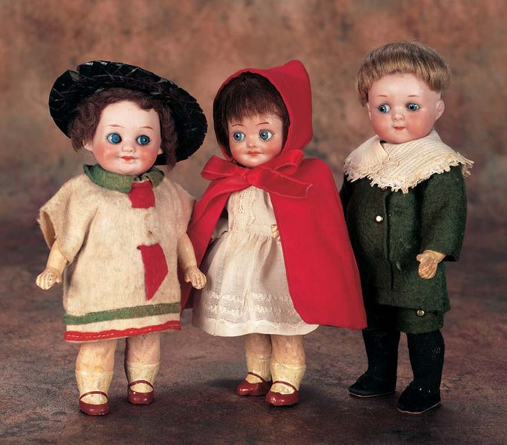 View Catalog Item - Theriault's Antique Doll Auctions - german bisque googly dolls, 7""