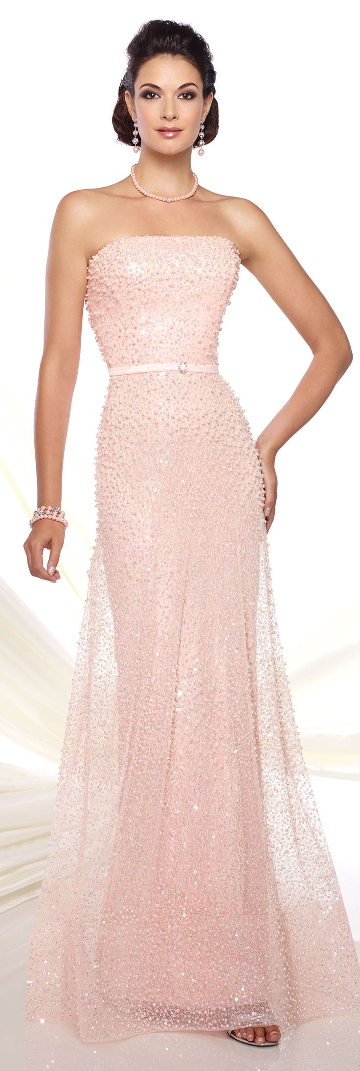 Mejores 14 imágenes de Pink/Peach Evening Gowns en Pinterest ...