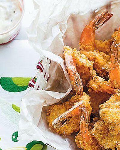 Butterflied prawn cutlets. An essential component of the Fisherman's basket. Recipe from @janelawsonfood's Milkbar Memories (Murdoch Books).