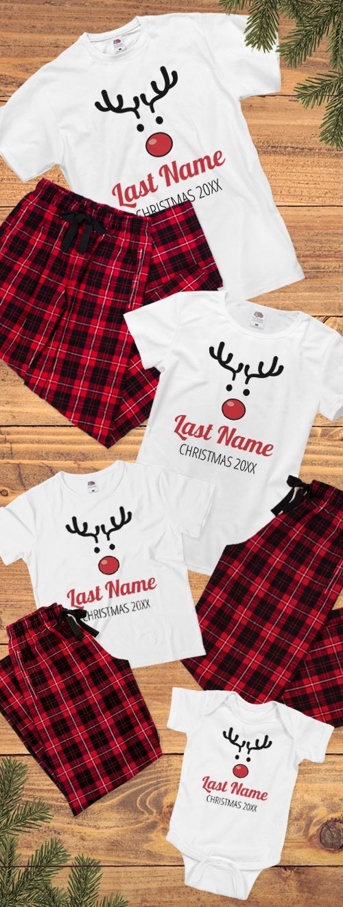 Create memories with custom Christmas pajamas for the whole family. Add names or dates and swap out the color or art