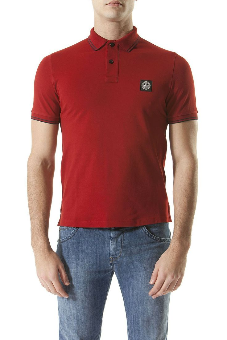 STONE ISLAND Red polo shirt for men spring summer 2014