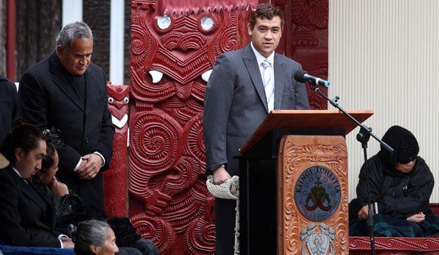 PEACE: Whatumoana Paki used his inaugural speech at Turangawaewae Marae to send a message to tribal elders.