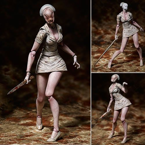 It's The Silent Hill Figma Figures - SH2 Pyramid Head. From the highly acclaimed horror game Silent Hill 2 comes a figma of the Bubble Head Nurse - the sinister monster with an oddly sensual charm! -