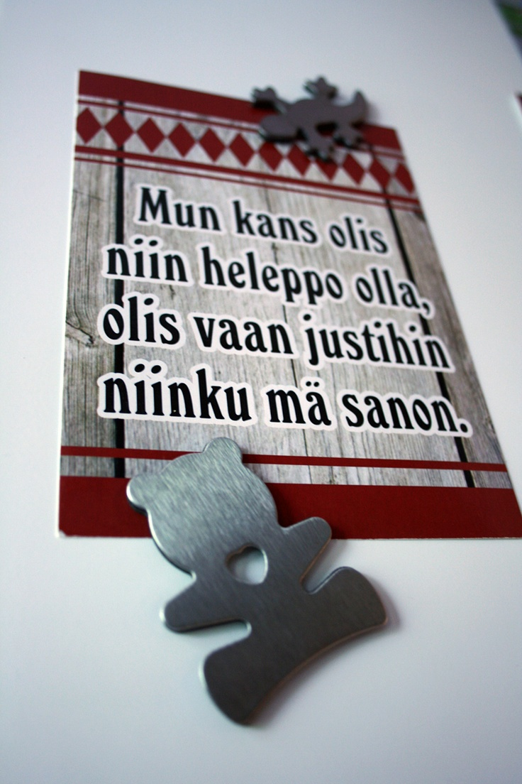 Fridge magnet and funny postcard from Southern Ostrobothnia. Image: Päivi Kantonen