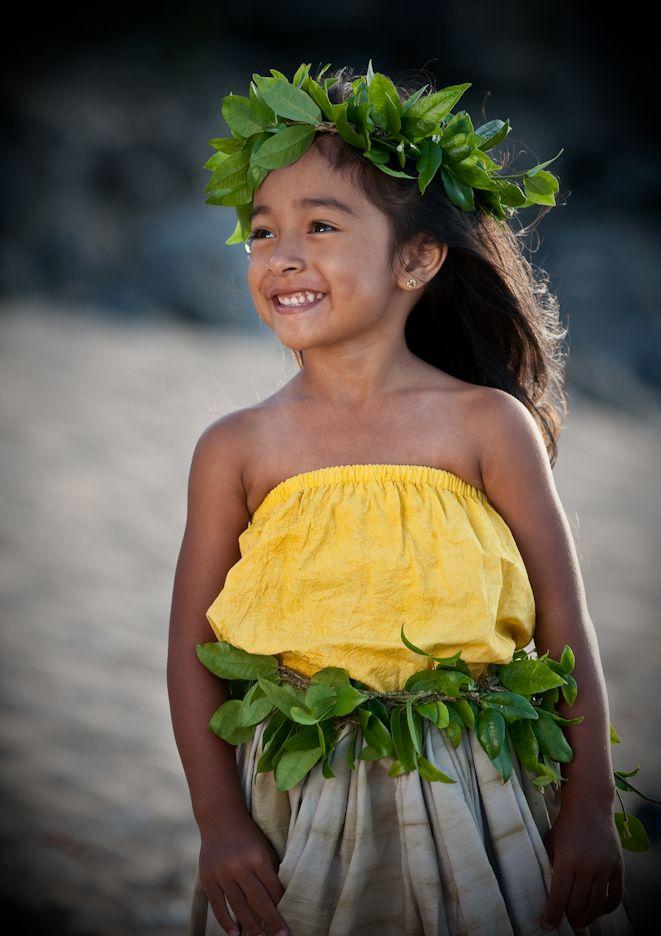 Beautiful young hula dancer...