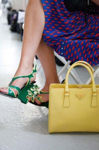 Shoe Stalking: The (50!) Most Awesome Kicks At NYFW | See more about Shoes, Photos and Bags.