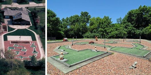 9-Hole Mini Golf Course in the Back Yard