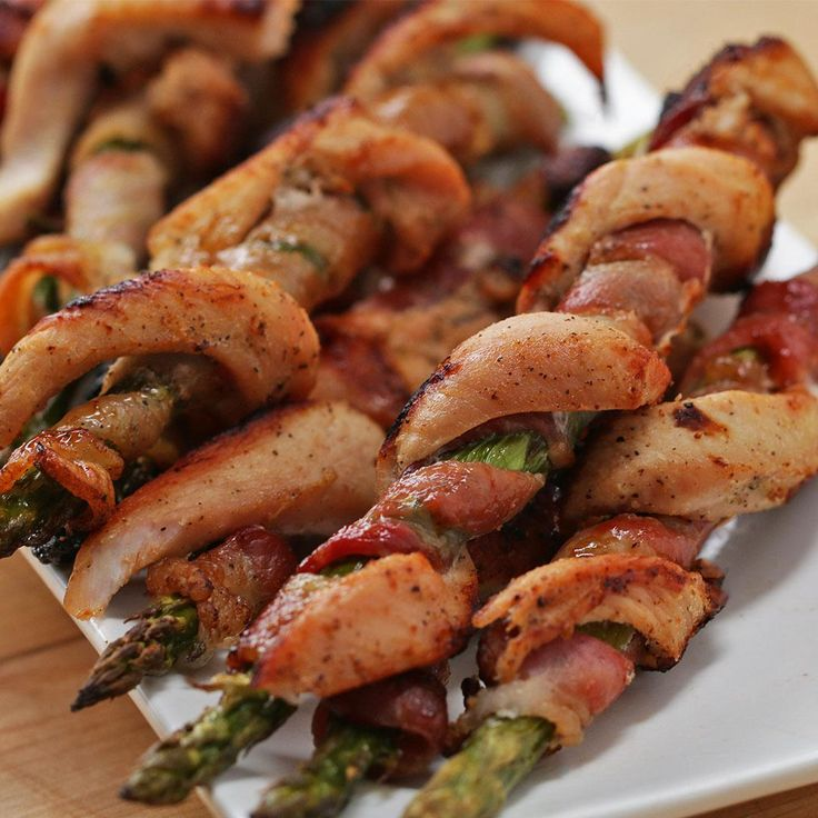 Chicken Bacon Asparagus Twists Recipe by Tasty