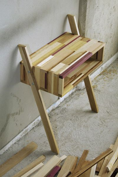 leaning side table