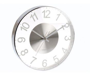 Wall clock Glass Slim Cased