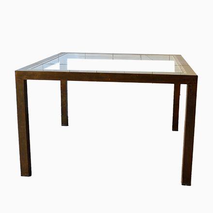 Quadratischer Couchtisch Aus Messing Und Glas, 1970er Jetzt Bestellen  Unter: ...