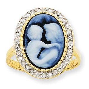 14k Everlasting Love Diamonds Cameo Ring Jewelry Adviser Rings. $376.00