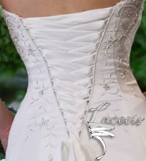 How to Add a Corset Back to a Wedding Dress - Totally Stitchin