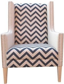 Bella Trevor Zig Zag club chair